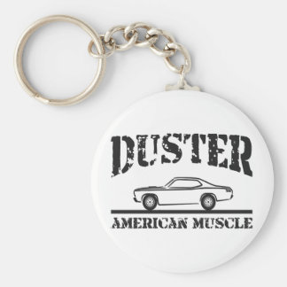 Plymouth Duster American Muscle Car Basic Round Button Key Ring