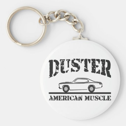 Plymouth Duster American Muscle Car Key Chain