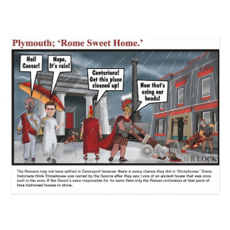 Plymouth; Home sweet Rome Postcard