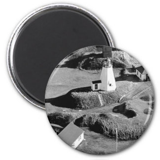 Plymouth Lighthouse 6 Cm Round Magnet