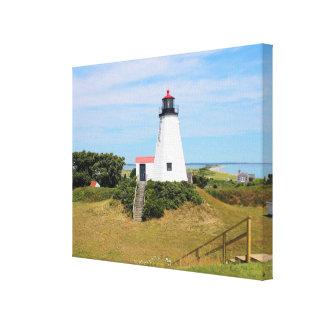 "Plymouth Lighthouse, ""the Gurnet"" Massachusetts Canvas Print"