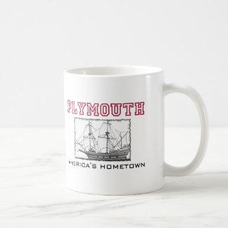Plymouth, MA Basic White Mug