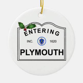 Plymouth MA Christmas Ornament