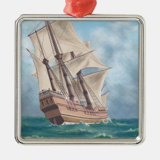 Plymouth, MassachusettsView of the Mayflower Christmas Ornament