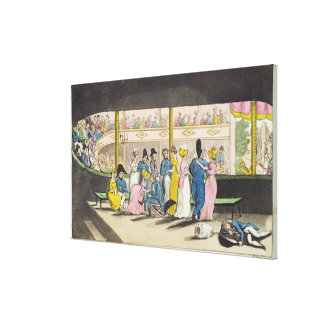 Plymouth Playhouse, plate from 'The Adventures of Canvas Print