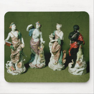 Plymouth porcelain figures of the Four Continents Mouse Mat