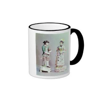 Plymouth porcelain shepherd and shepherdess coffee mug