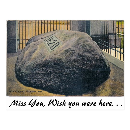 Plymouth Rock, Plymouth, Massachusetts Postcard