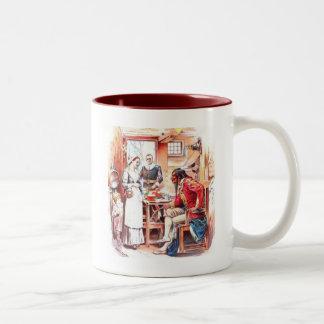Plymouth Thanksgiving Feast Two-Tone Coffee Mug