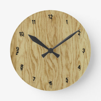 Plywood Inspired Wooden Round Clock