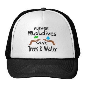 Plz Maldives Save Tree & Water Cap