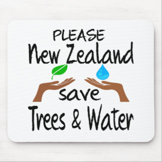 Plz New Zealand Save Tree Water Mouse Pad
