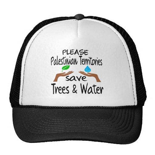 Plz Palestinian Territories Save Tree & Water Hats