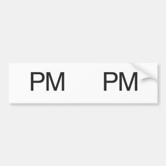 PM BUMPER STICKERS
