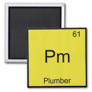 Pm - Plumber Funny Chemistry Element Symbol Tee Refrigerator Magnet