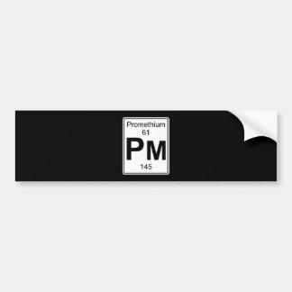 Pm - Promethium Bumper Sticker