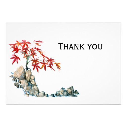 PMACarlson Red Maple Bonsai Thank you  note Announcements