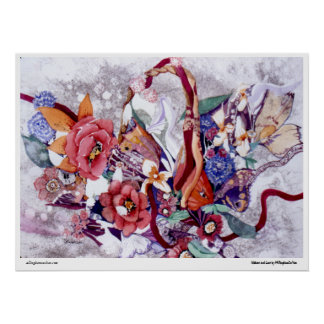 """PMACarlson """"Ribbons and Lace"""" Poster"""