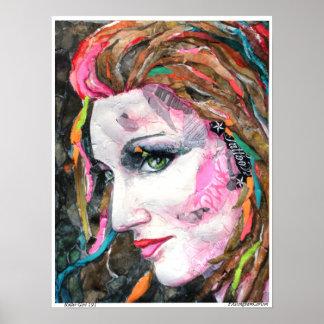 PMACarlson  Roller Girl 191Print Poster
