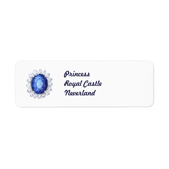 PMACarlson Royal Sapphire Label Return Address Label