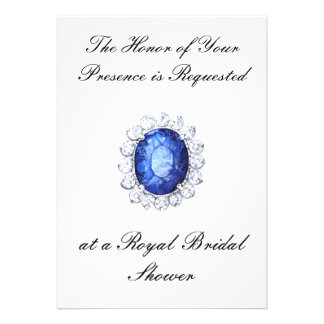 PMACarlson Royal Sapphire Shower Invitiation Personalized Invites