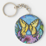 PMACarlson Tiger Butterfly Keychain