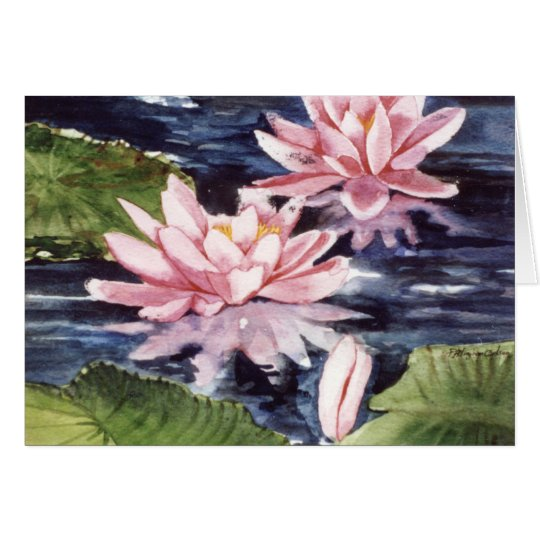 PMACarlson Waterlilies Card