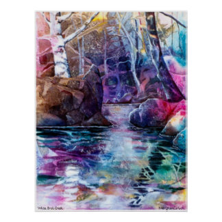 PMACarlson White Birch Creek Poster