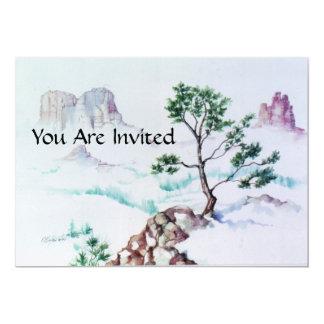 "PMACarlsonMountain Bonsai Invitation 5"" X 7"" Invitation Card"