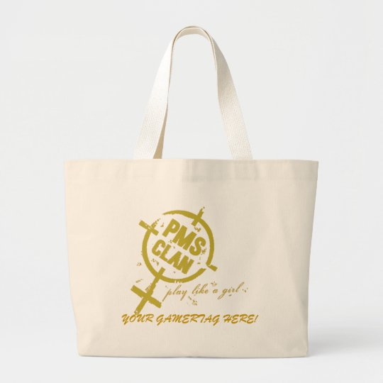 PMS Handbag- Gold Logo Large Tote Bag
