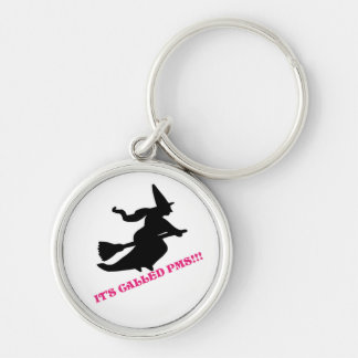 pms Silver-Colored round key ring