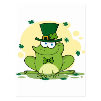 png_4678-Safe-Happy-Irish FROGGY FROG Clovers Postcard