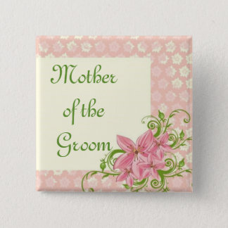 PnG Groom Mother 15 Cm Square Badge