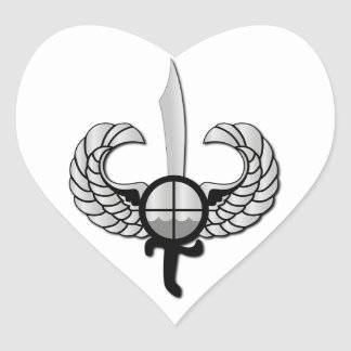 PNP Special Action Force Badge without Text Heart Sticker