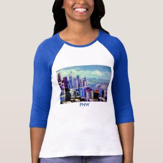PNW Blue Ladies T-Shirt- The Seattle Skyline T-Shirt