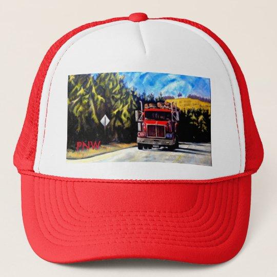 PNW Red Trucker Hat- The Logging Truck Cap