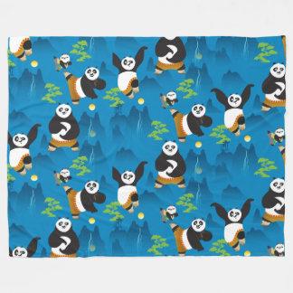 Po and Bao Blue Pattern Fleece Blanket