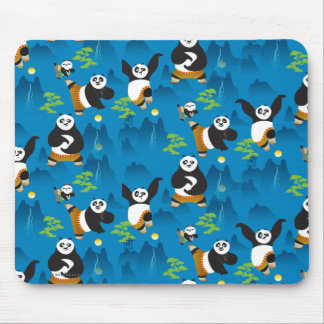Po and Bao Blue Pattern Mouse Mat