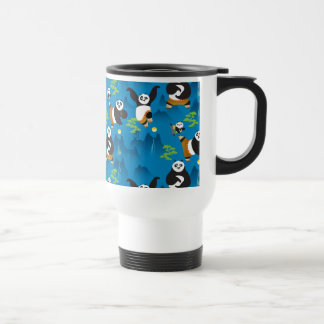 Po and Bao Blue Pattern Travel Mug