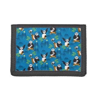 Po and Bao Blue Pattern Tri-fold Wallet