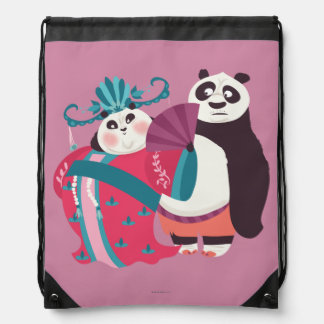 Po and Mei Mei Drawstring Bag