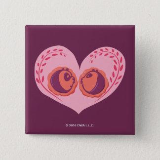 Po and Mei Mei in Heart 15 Cm Square Badge