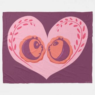 Po and Mei Mei in Heart Fleece Blanket
