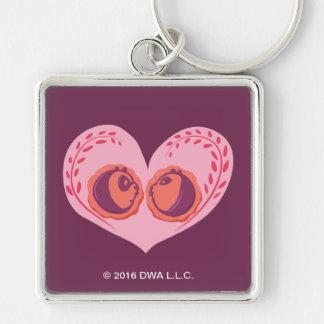 Po and Mei Mei in Heart Key Ring