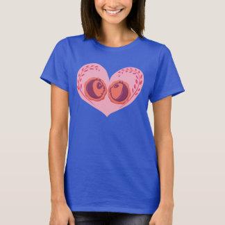 Po and Mei Mei in Heart T-Shirt