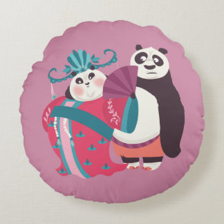 Po and Mei Mei Round Cushion