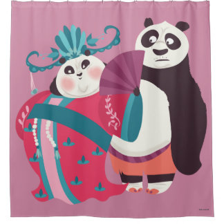 Po and Mei Mei Shower Curtain