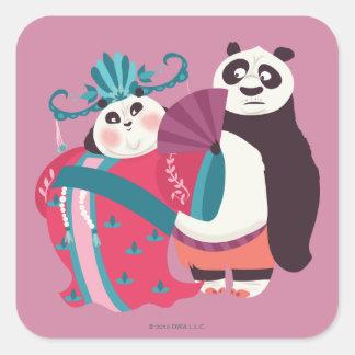 Po and Mei Mei Square Sticker