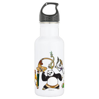 Po and the Furious Five 532 Ml Water Bottle