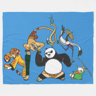 Po and the Furious Five Fleece Blanket